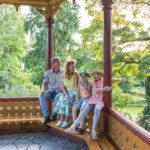 Familj i Visby vid camping