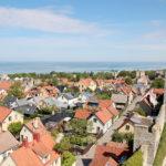 Visby Gotland vid hav och camping